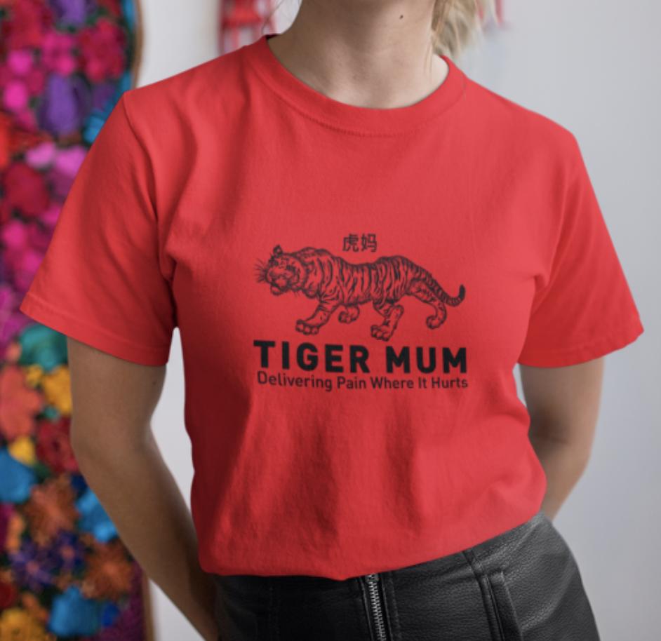 Tiger Mum Crew Neck S-Sleeve T-shirt