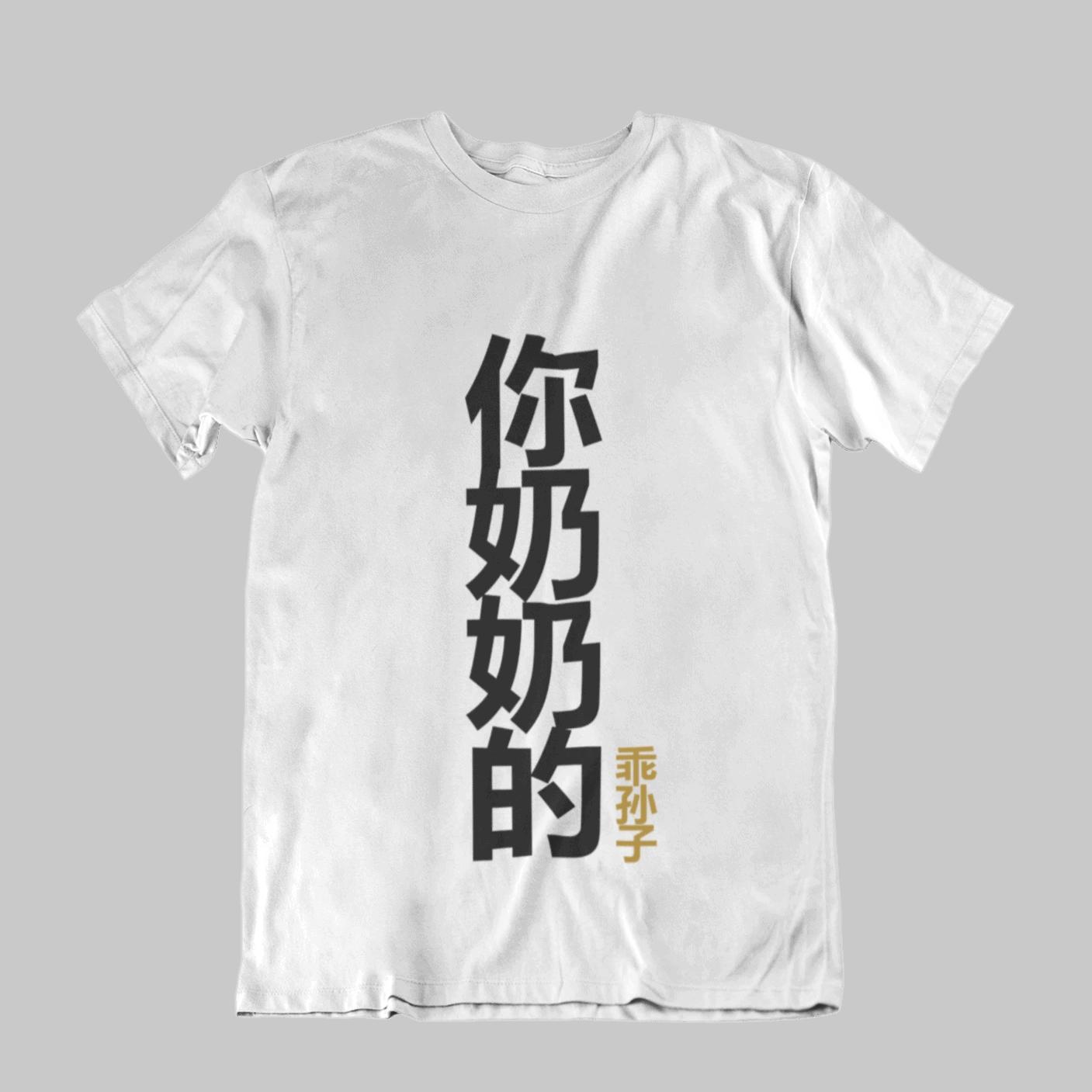 你奶奶的乖孙子 Your Grandmother's Obedient Grandson Kids Crew Neck S-Sleeve T-shirt