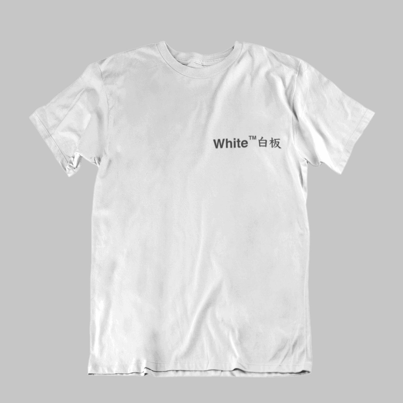 White Board Crew Neck S-Sleeve T-shirt