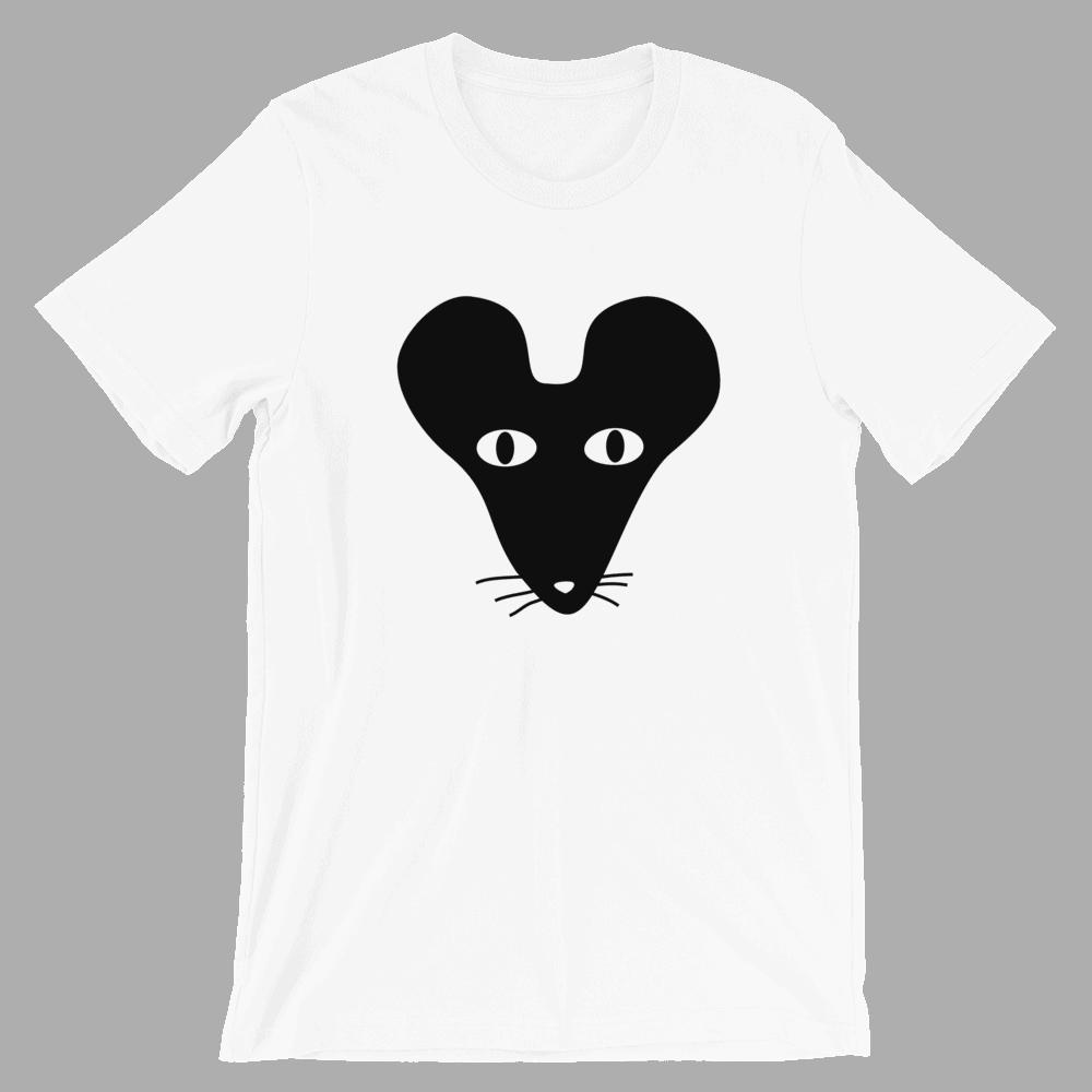 Black Faced Rat Crew Neck S-Sleeve T-shirt