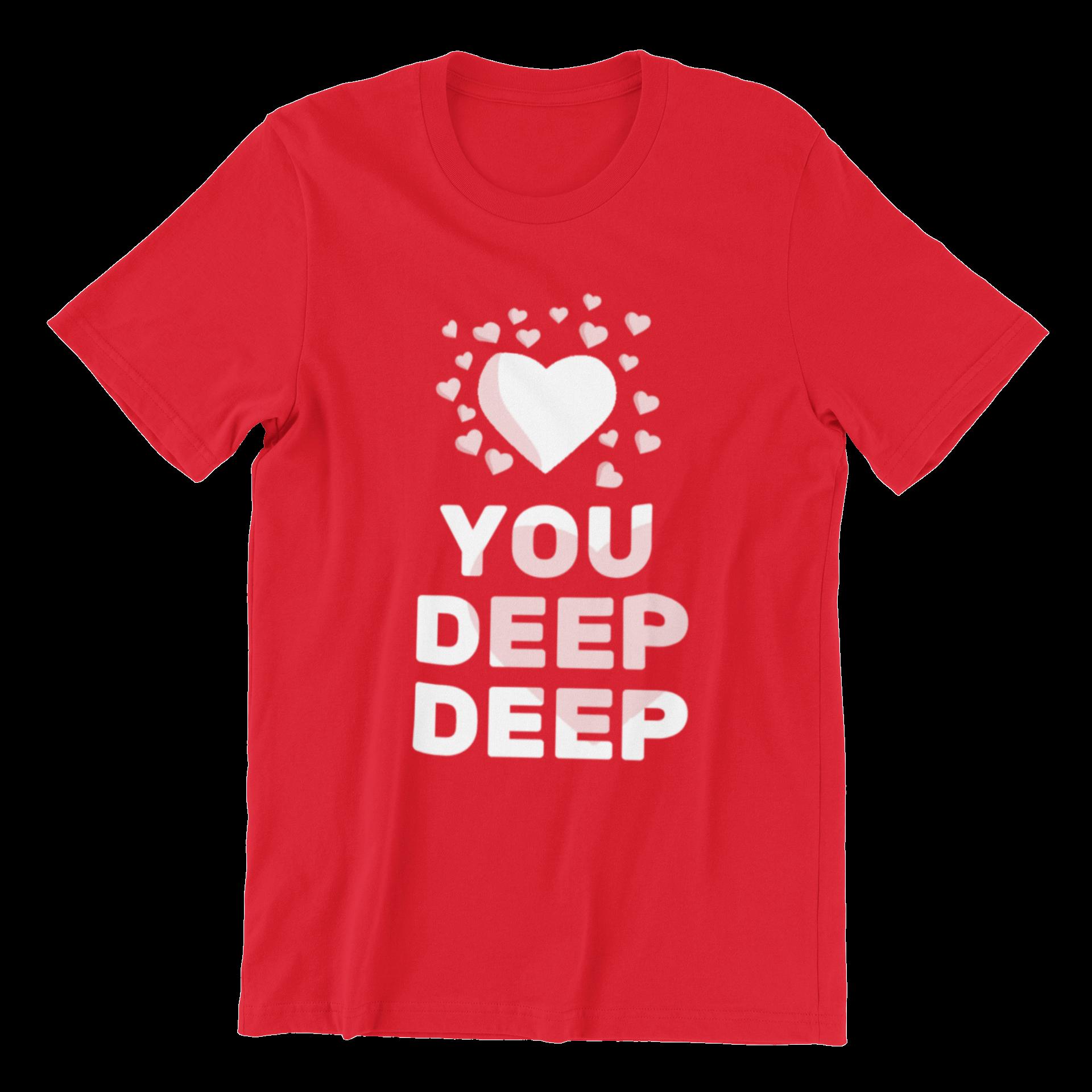 Love You Deep Deep Crew Neck S-Sleeve T-shirt
