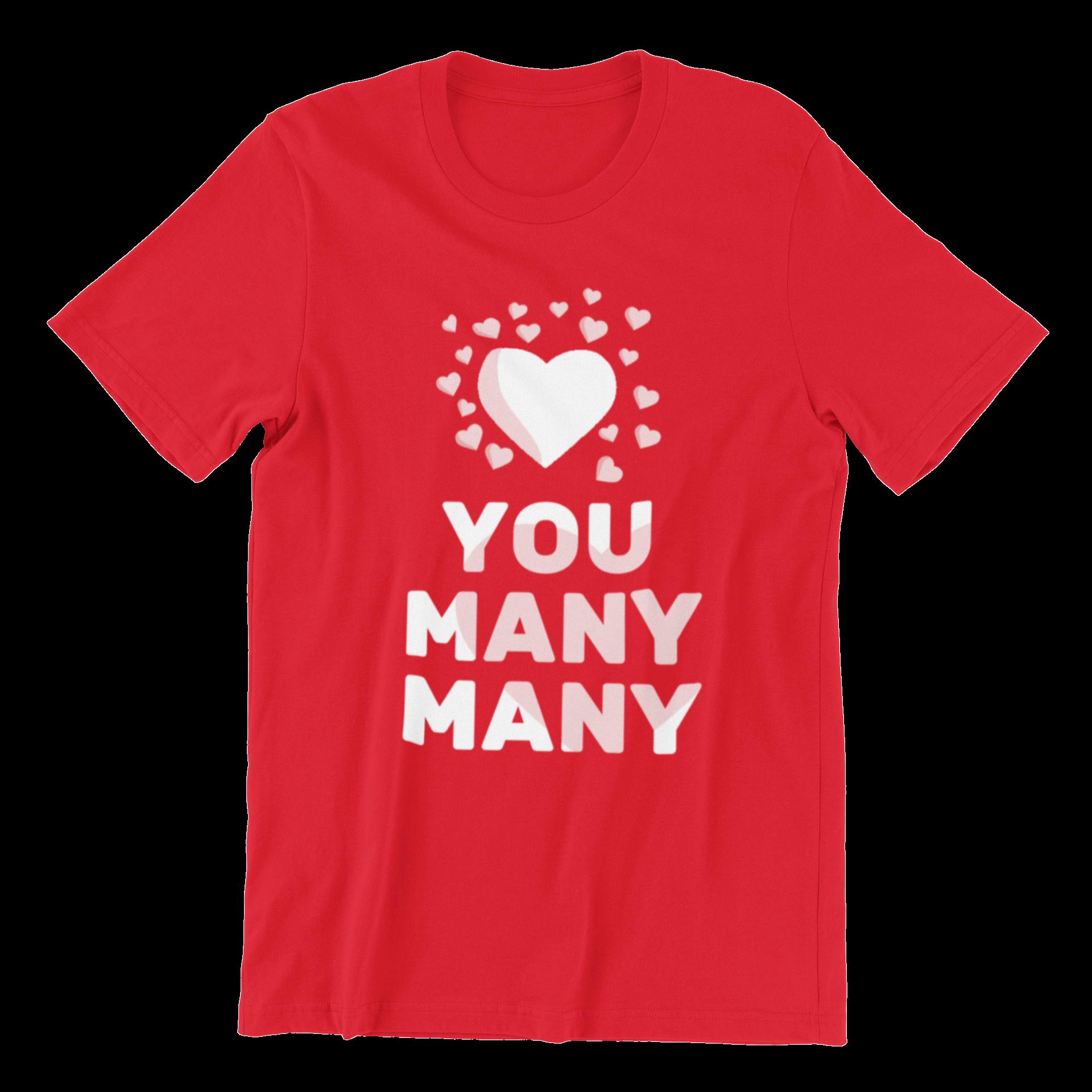 Love You Many Many Crew Neck S-Sleeve T-shirt