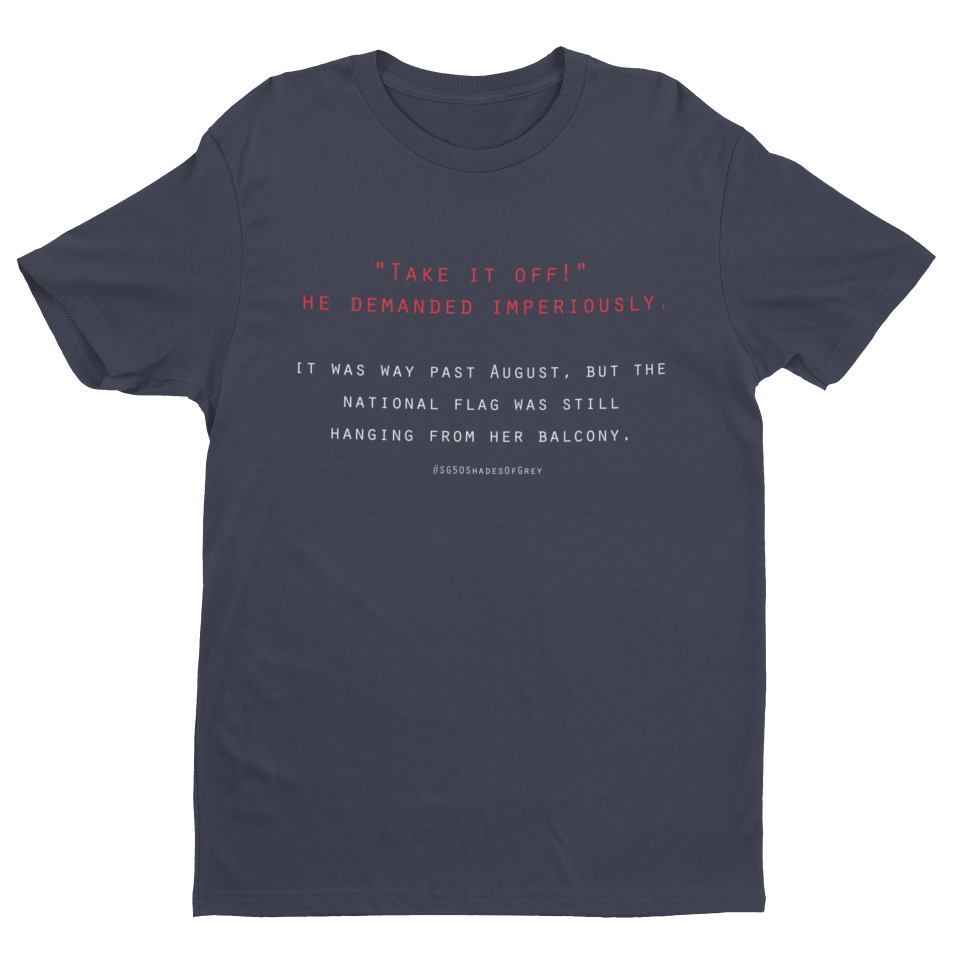 SG50 Shades of Grey - Flag Crew Neck S-Sleeve T-shirt