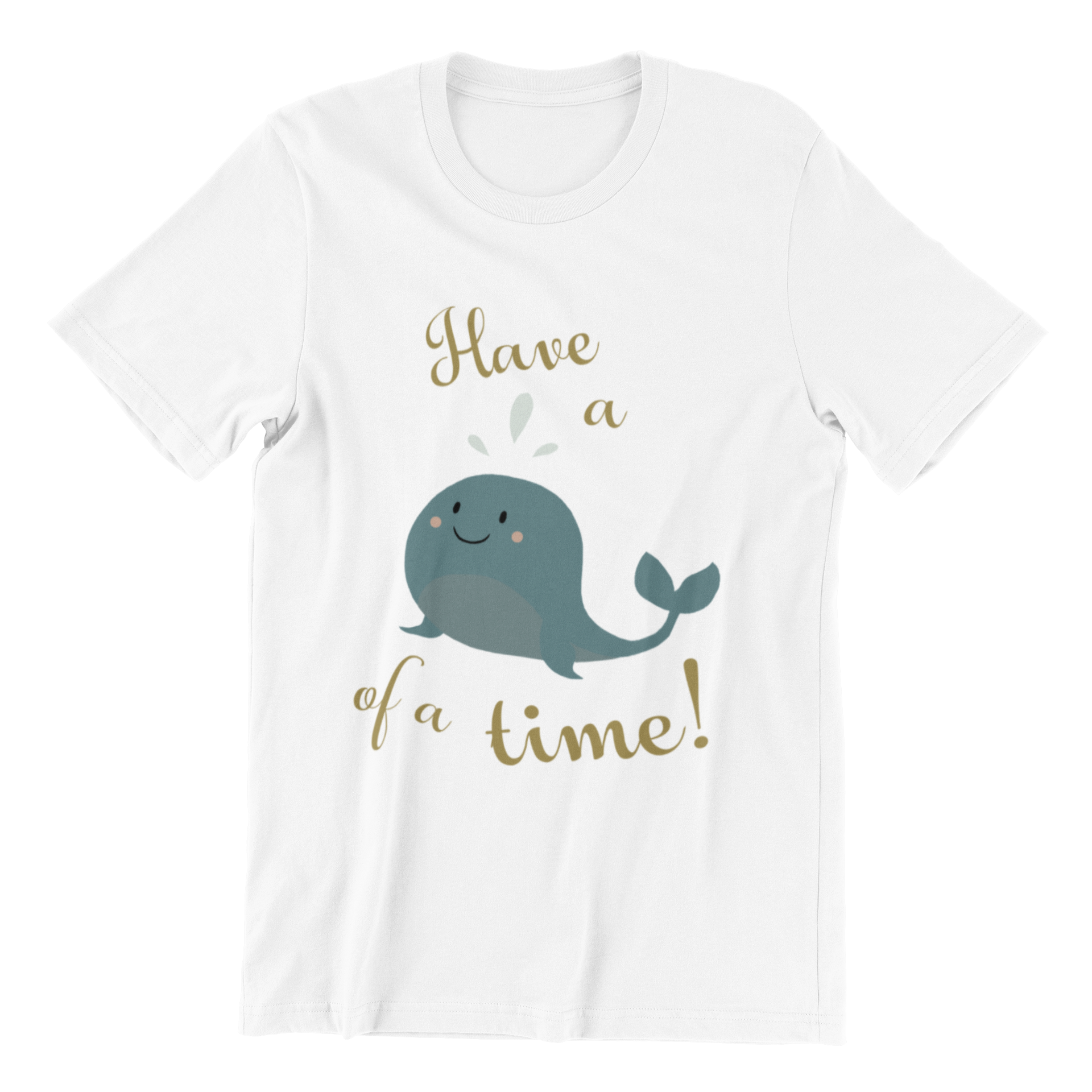 Have a Whale of a Time Crew Neck S-Sleeve T-shirt