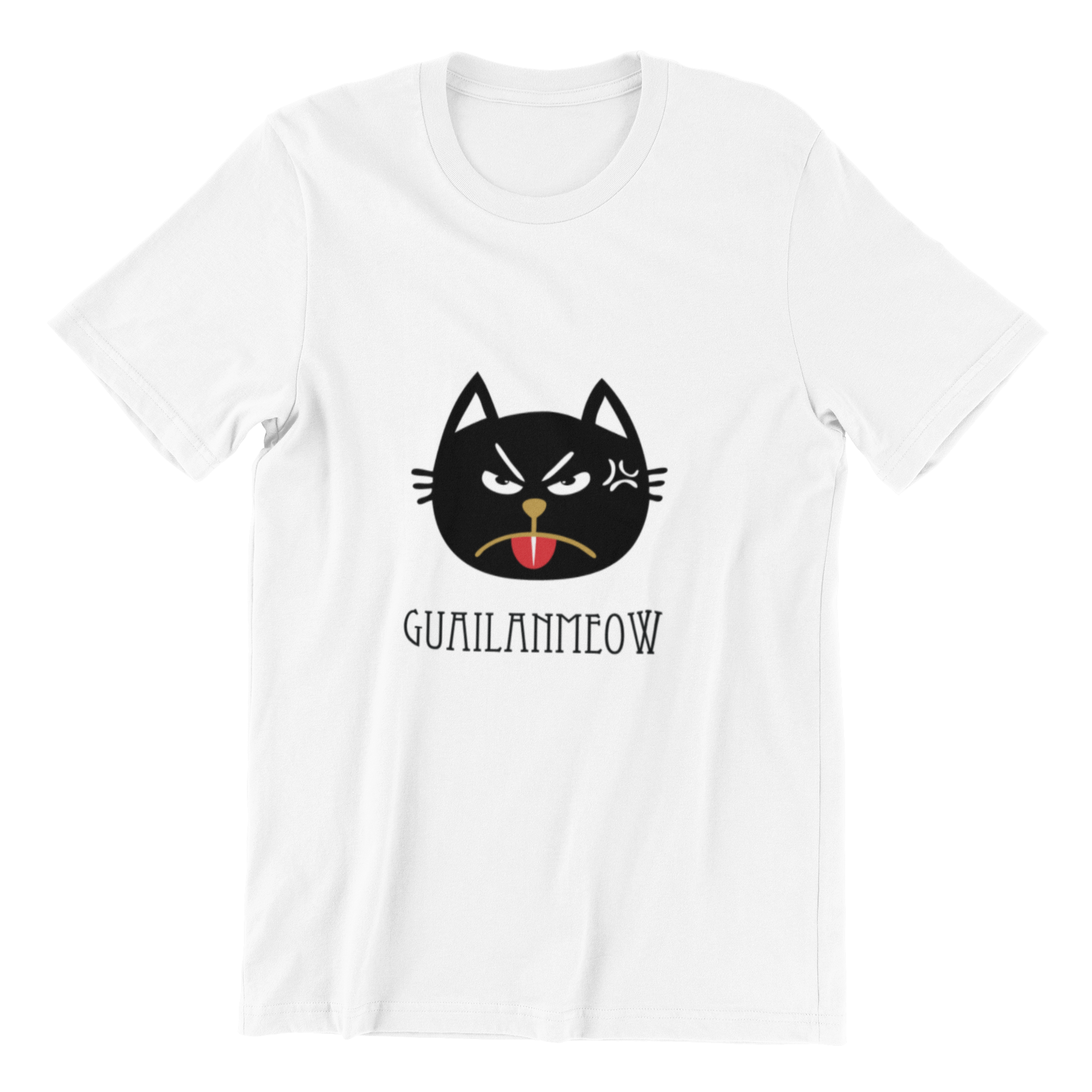 Guailanmeow Crew Neck S-Sleeve T-shirt
