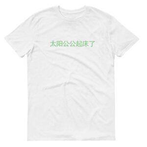 Ah Gong Sun Wakes Up Kids Crew Neck S-Sleeve T-shirt