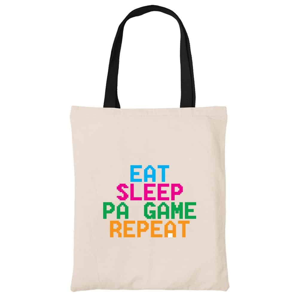 Eat Sleep Pa Game Repeat Beech Canvas Tote Bag