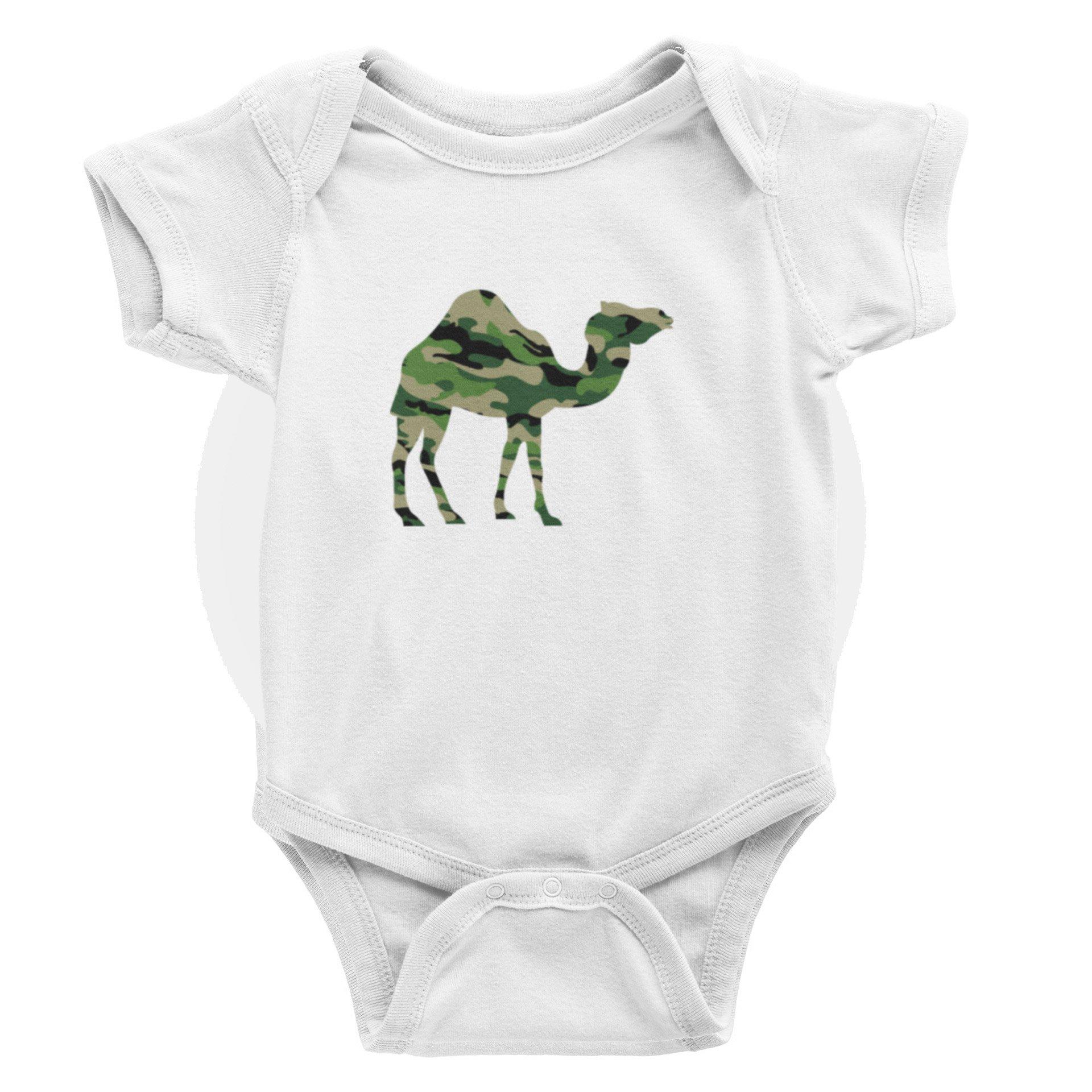 Camo Camel S-Sleeve Romper