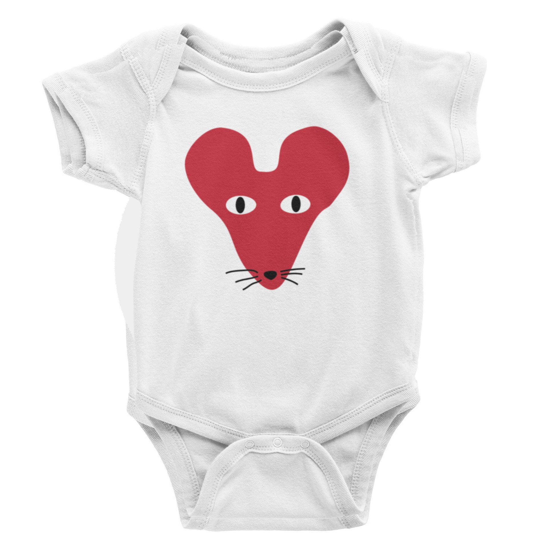 Red Faced Rat S-Sleeve Romper