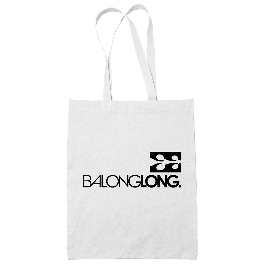 Balonglong White Cotton Tote Bag