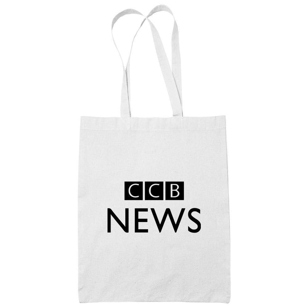 CCB News White Cotton Tote Bag