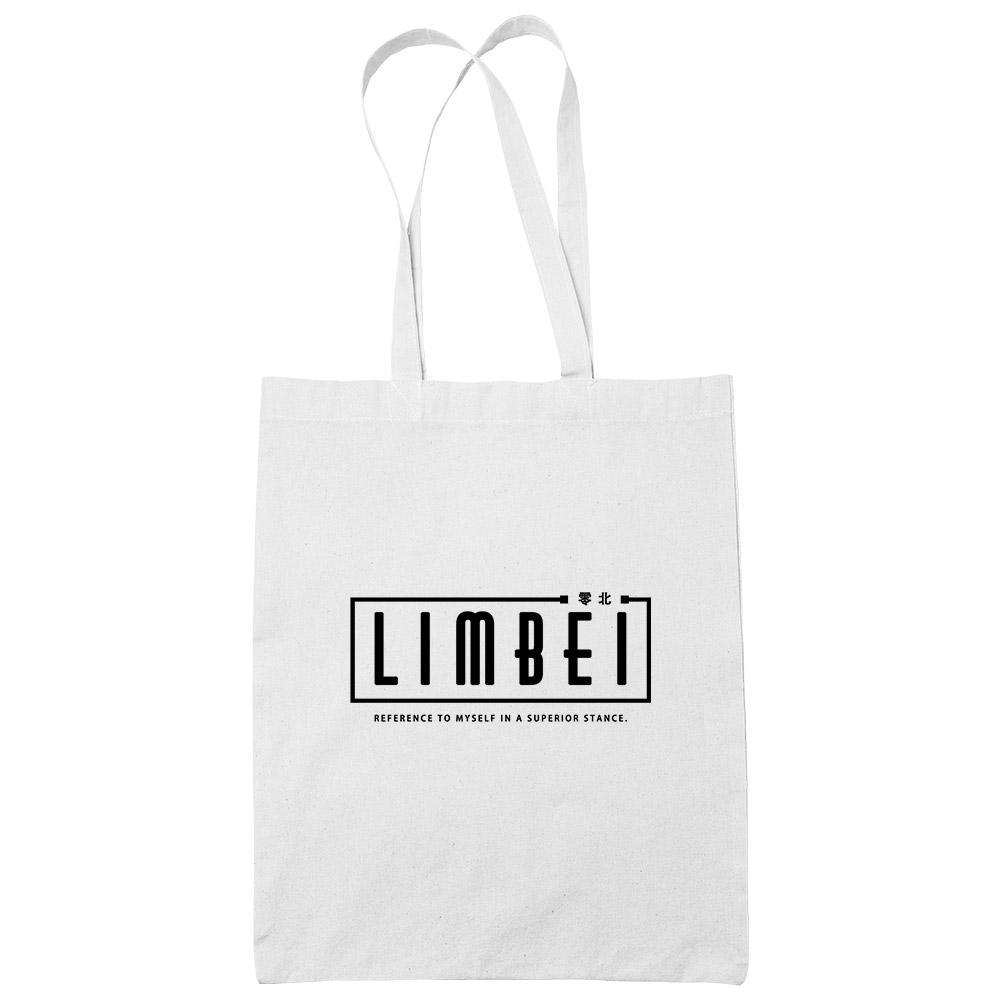 Limbei White Cotton Tote Bag