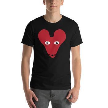 Money Faced Rat Crew Neck S-Sleeve T-shirt
