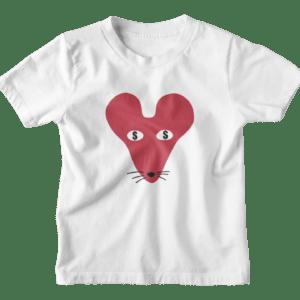 Money Faced Rat Kids Crew Neck S-Sleeve T-shirt