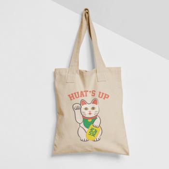 Huat's Up Cotton Tote Bag
