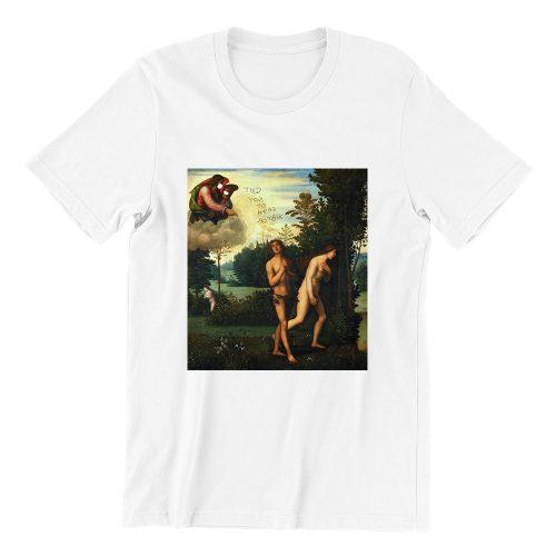 Adam and Eve Short Sleeve white T-shirt