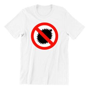 Anti Durian-white-short-sleeve-mens-teeshrt-singapore-funny-hokkien-vinyl-streetwear-apparel-designer