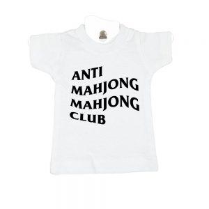 Anti Mahjong Mahjong Club-white-mini-t-shirt-home-furniture-decoration