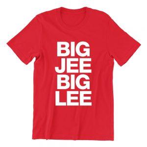 Big Jee Big Lee red girls crew neck street unisex tshirt singapore