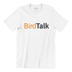 Birdtalk-white-short-sleeve-womens-funny-singapore-teeshrt
