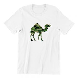 Camo Camel white short sleeve womens funny singapore teeshrt