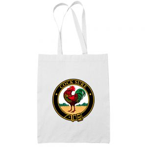 Cock Sure-cotton-white-tote-bag-women-shoulder-grocery-shopping-carrier