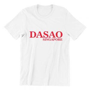 DASAO Singapore white short sleeve ladies t shirt singapore streetwear