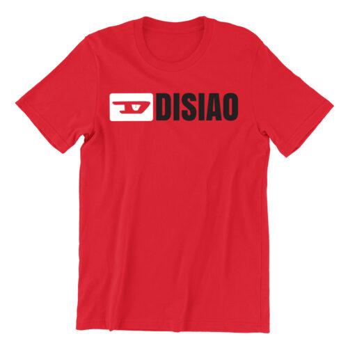 Di-siao-red-crew-neck-unisex-tshirt-singapore-brand-parody-vinyl-streetwear-apparel-designer