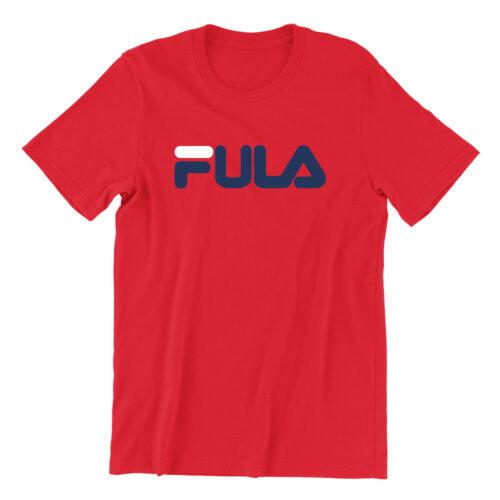 FULA-red-crew-neck-unisex-tshirt-singapore-brand-parody-vinyl-streetwear-apparel-designer