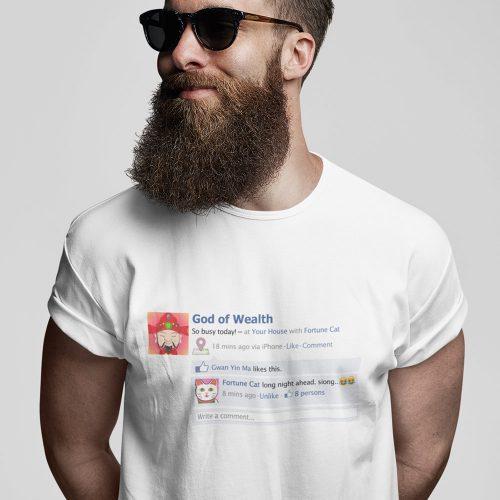 God of Wealth tshirt singapore adult unisex funny streetwear