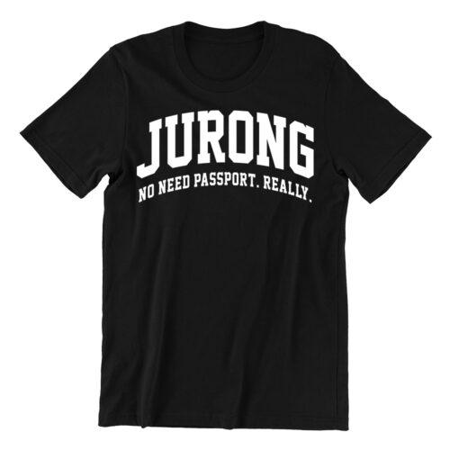 Jurong-black-casualwear-woman-t-shirt-singapore-funn-singlish-vinyl-streetwear
