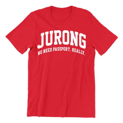 Jurong-red-crew-neck-street-unisex-tshirt-singapore-funny-hokkien-clothing-