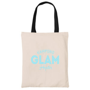 Kampong Glam canvas heavy duty tote bag grocery shopping carrier