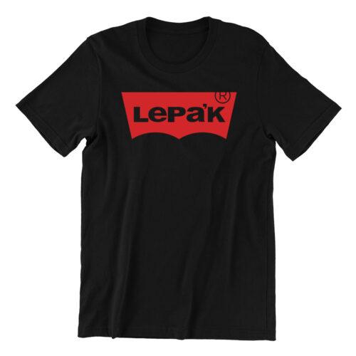 Lepak-black-casualwear-womens-t-shirt-design-kaobeiking-singapore-funny-clothing-online-shop