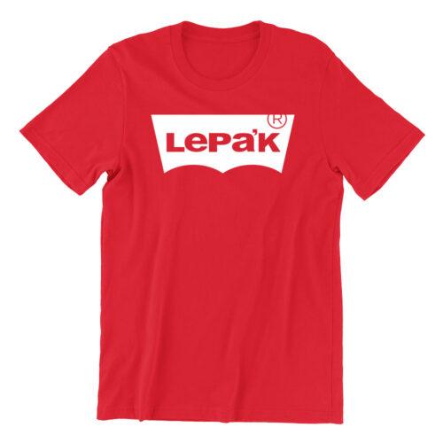 Lepak-red-crew-neck-unisex-tshirt-singapore-brand-parody-vinyl-streetwear-apparel-designer