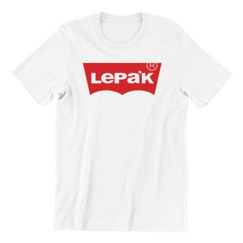 Lepak-white-short-sleeve-mens-teeshirt-singapore-kaobeiking-creative-print-fashion-store