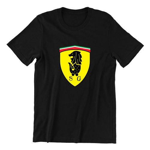 Merrari S1 black casualwear mens funny singapore t shirt