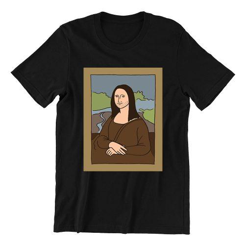 Mona-lisa-black-womens-t-shirt-singapore-hokkien-casualwear