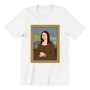 Mona-lisa-white-short-sleeve-ladies-t-shirt-singapore-streetwear
