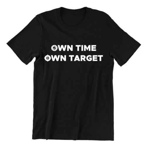 Own Time Own Target Tshirt black ns tshirt