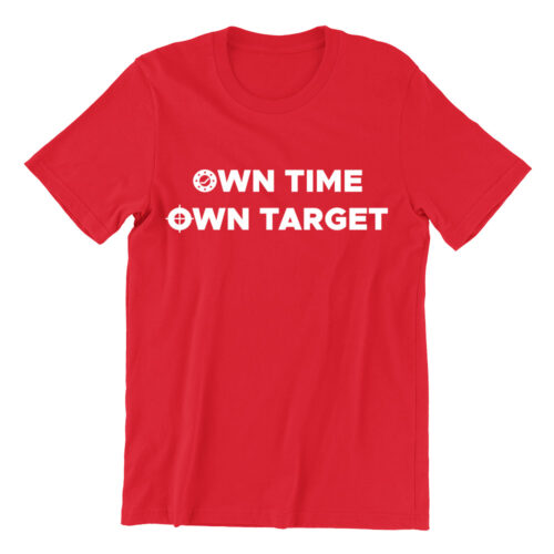 Own Time Own Target Tshirt national service red