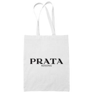 Prata cotton white tote bag carrier shoulder ladies shoulder shopping grocery bag uncleanht