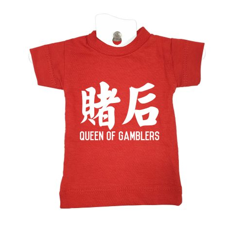 Queen of Gamblers-red-mini-t-car-windscreen-hanger-decoration