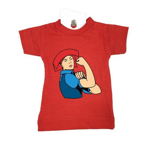 Samsui Woman-red-mini-tee-miniature-figurine-toy-clothing