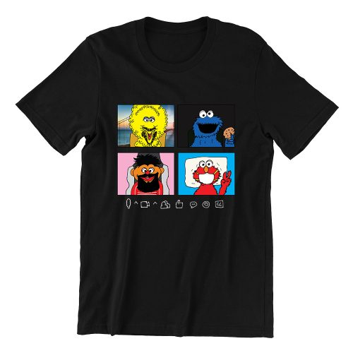 Sesame zoom-black-casualwear-mens-funny-singapore-t-shirt