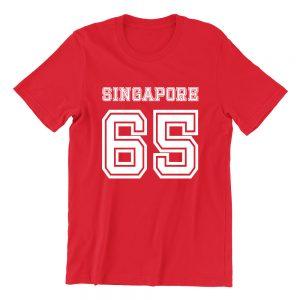 Singapore 65 red girls hokkien teeshirt singapore clothing