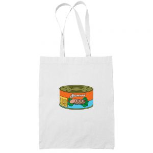 Spammed-cotton-white-tote-bag-shoulder-grocery-shopping-carrier