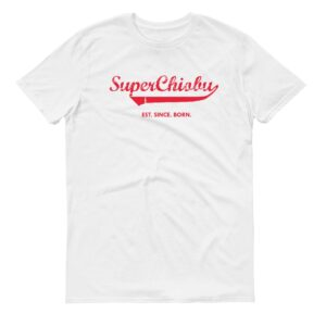 Super Chiobu white short sleeve mens teeshrt singapore funny hokkien vinyl streetwear apparel designer