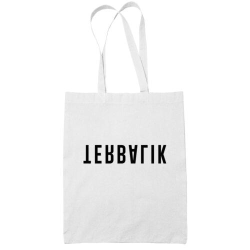 Terbalik cotton white tote bag carrier shoulder ladies shoulder shopping grocery bag uncleanht