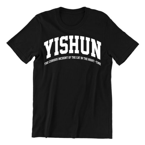 Yishun-black-casualwear-woman-t-shirt-singapore-kaobeking-funn-singlish-vinyl-streetwear